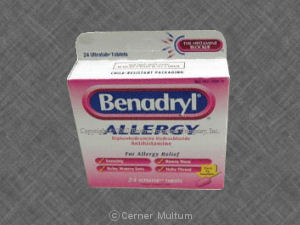 Image of Benadryl Ultratab 25 mg