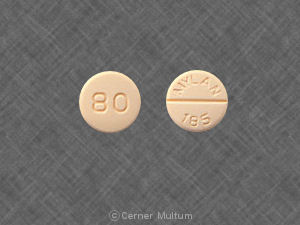 Image of Propranolol 80 mg-MYL